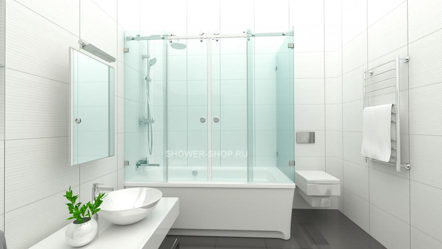 Фурнитура для раздвижной шторки на ванну уголком №712